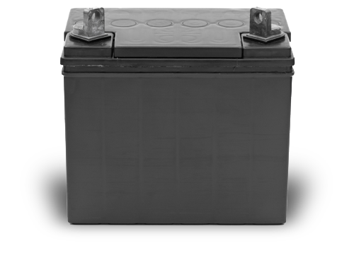 12 Volt battery used in a company vehicle