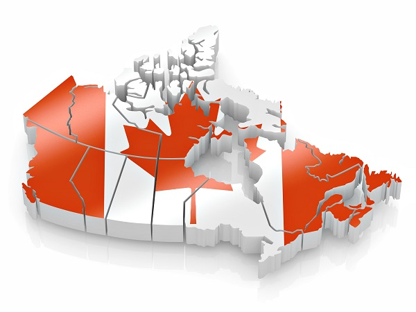 Map of Canada with FleetTraks GPS Tracking